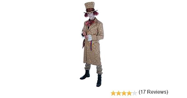 MAD Hatter Da Uomo Costume Favola Paese Delle Meraviglie Libro Tea Party Adulti Costume