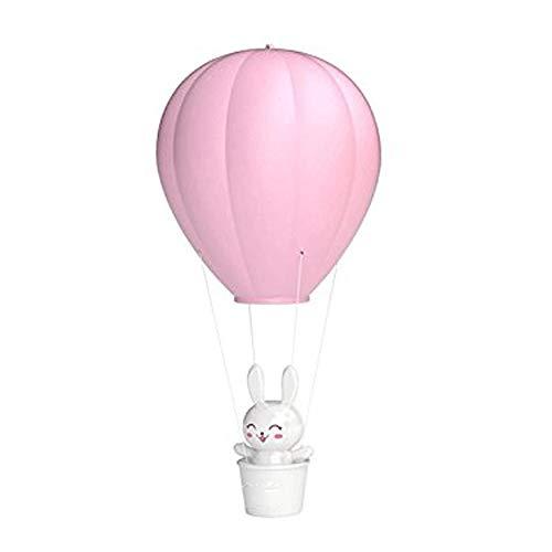 MMPY LED-Nachtlicht mit Berührungsschalter USB-Lade-Wandlampe Dunkles Kind Baby Licht einstellbar Licht Heißluft Ballon Kinder Schlafzimmer Dekoration (Farbe : Rosa)