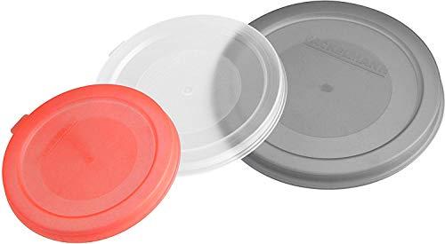 Fackelmann Konserven- und Dosendeckel, Deckel in 3 verschiedenen Größen, Universaldeckel, Kunststoff, farblich sortiert