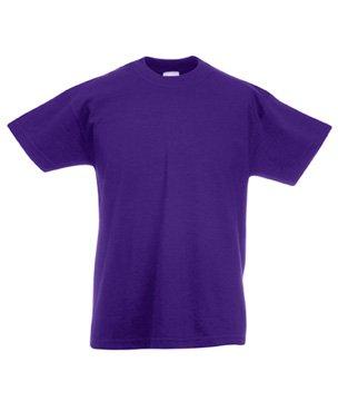 Fruit of the Loom Jungen T-Shirt Gr. 7 Jahre, Violett