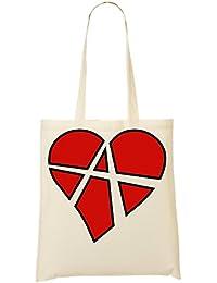 Atheism Heart Bolso De Mano Bolsa De La Compra