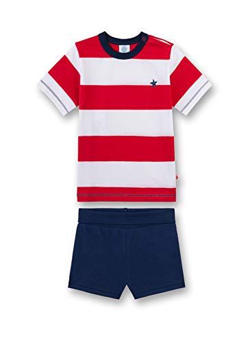Sanetta Baby - Jungen Schlafanzug kurz Bekleidungsset, per Pack Rot (Rouge 3480), 98 (Herstellergröße: 098)