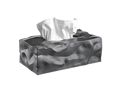 Essey Kosmetiktücher-Box Wipy Cube II, rechteckiger Taschentuchspender, Design Taschentuchbox, Graphite - Box-metall-rechteckig Kollektion