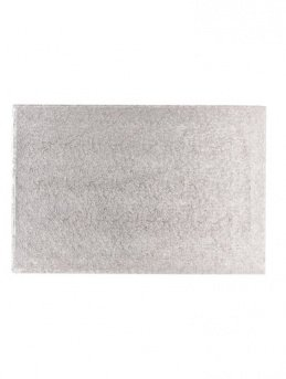 """OBLONG Thick SILVER Cake Board DRUM (16 x 14"""" OBLONG CAKE DRUM BOARD)"""