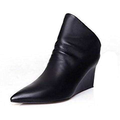 Ms. autunno e in inverno stivali aumento scarpe col tacco