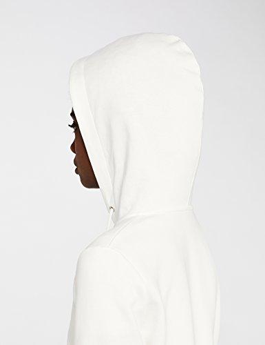 MERAKI Damen Hoody mit Reißverschluss, Weiß (White), Large - 6