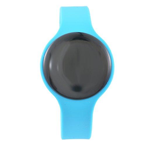 Souarts Unisex Montre Smart Bracelet Bluetooth Connecté Sport Fitness Tracker Podomètre Calories Réveil pr iPhone et Android Bleu 1Pc