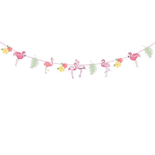 Bunting Banner Flamingo Partei Liefert Luau Hawaiian Party Dekoration Hochzeit Gefälligkeiten ()
