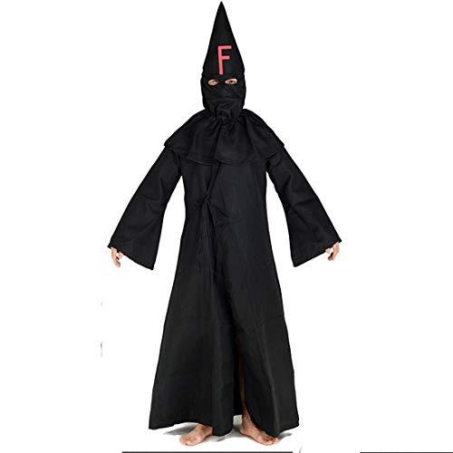YKJ Kleidung Schwarzer Mantel Kleidung Cosplay Anime Cosplay Männliche Makeup Kleidung Maske Halloween Karneval Kleidung,Black-S