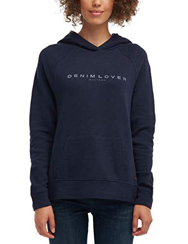 Mustang Damen Regular Fit Kapuzenpullover, Dunkelblau, X-Large -