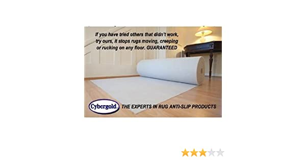 CyberGold Anti Slip Underlay not Spray - Stop your rug or runner moving GUARANTEED!! Non Slip Matting Carpet Runner Rug Mat For Hall Way, Stair Case, ...