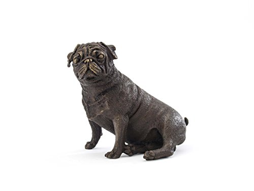 Escultura bronce - Perro carlino - Estilo antiguo