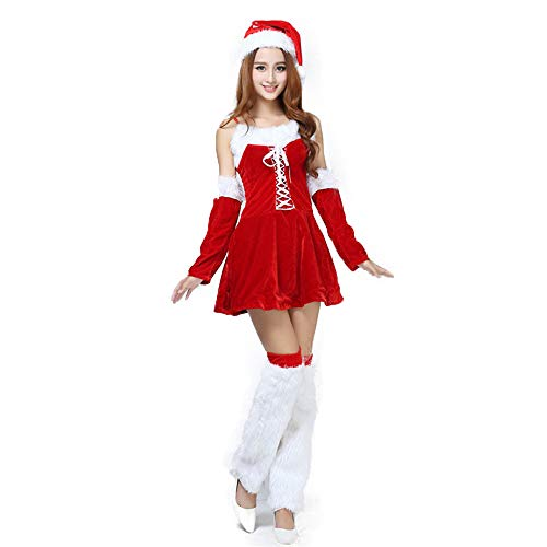 AFCITY Weihnachts Party Kostüm Weihnachten Kleid Frauen Cute Holiday Kleidung Bein warmen Anzug Kostüm Weihnachten Nikolauskostüm ()