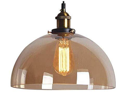 W-LI Deckenleuchten Lampen Kronleuchter Pendelleuchten 12 '' Wide Vintage Foyer Pendelleuchte Deckenleuchte Kronleuchter Semi Globe Glas für Schlafzimmer Wohnzimmer Küche Gang Restaurant Bar Café -