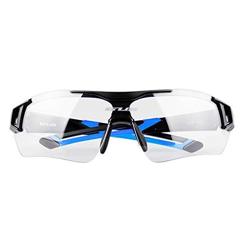 Sharplace Männer Frauen Polarisierte Sonnenbrille Sportbrille mit wechselbare Linsen UV400 Schutz Radbrille Fahrradbrille - Schwarz Blau