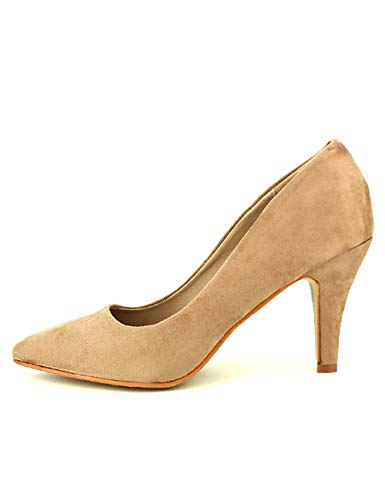 Cendriyon, Escarpin Color Taupe Laura Mode Chaussures Femme