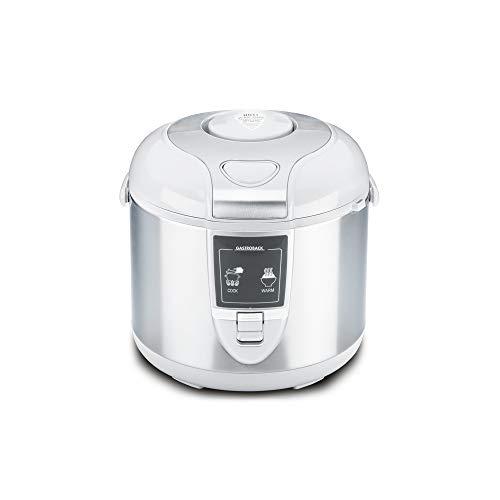 Gastroback 42507 Arrocera eléctrica, capacidad 3 litros, para cocer 5 tazas arroz, 700 W, Acero Inoxidable...