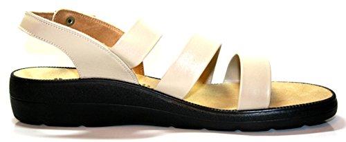 Ganter Selina 5–202971Donna Scarpe Sandali, Weite F Beige (porzella)
