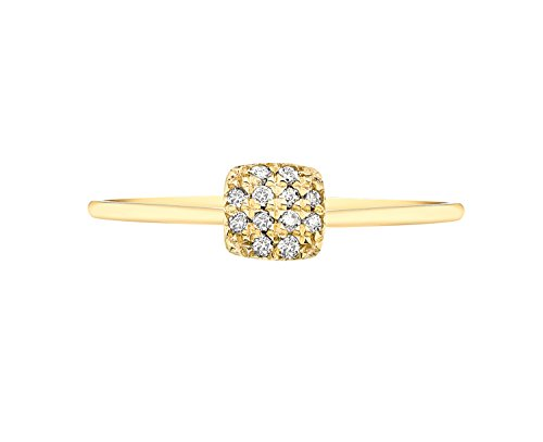 Carissima Gold - Bague Femme - Or rose 375/1000 (9 Cts) 1.14 Gr - Diamant Or jaune