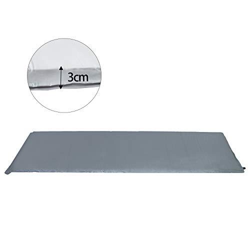 Hengda Selbstaufblasende Isomatte Ultraleichter Camping Isomatte Wasserdicht Selbstaufblasende Luftmatratze Camping Isomatte 190 * 60 * 3CM Grau
