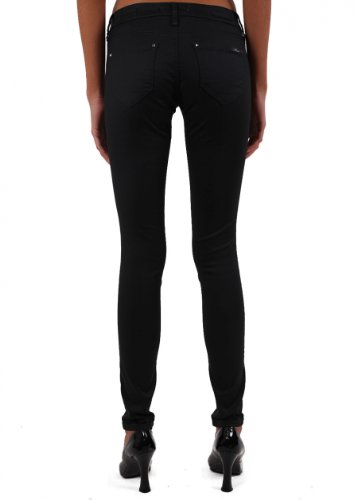 Mavi - Jeans Serena; Cloudy Winter Str, skinny fit, donna Nero (black brushed coated)