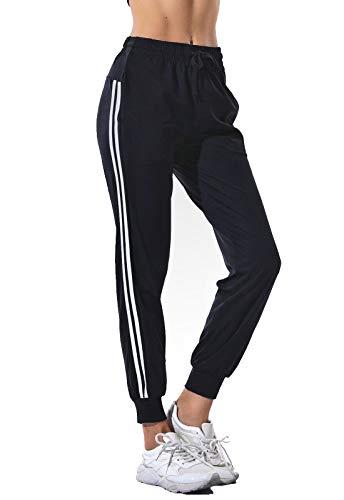SEASUM pantaloni sportivi da donna jogging fitness moda lunghi taglia XL