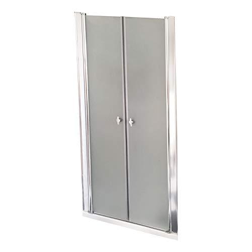 Home Deluxe - Duschabtrennung - Duschtür - Lavea Milchglas - Maße: 115 x 195 cm - 6 mm n