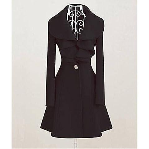 HJLHYL NZ®Rock N Roll abrigo de lana de la colmena de las mujeres