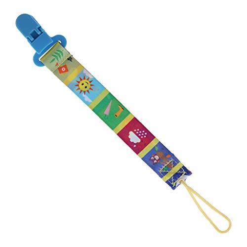 Kimnny Satin-Nylonschnur, 10 m weiches Satin-Nylon, Mehrfarbig, massives Seil für Schmuckherstellung, Perlenkordel für Babys, 2,5 mm DIY Halskette Anhänger - Sky Pattern Nipple Clip
