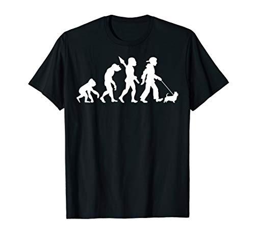 Australian Silky Terrier Gassi Gehen Evolution Hunde T-Shirt -