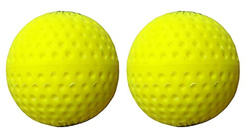 SanR FLASHO Color Pu Professional Hockey & Cricket Bowling Machines Ball (Pack of 2, Weight 140g to 155g)