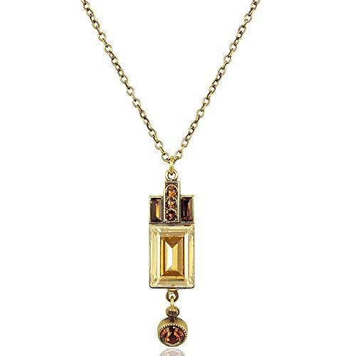 Art Deco Kette mit Swarovski Elements® Kristalle Antik Gold NOBEL SCHMUCK