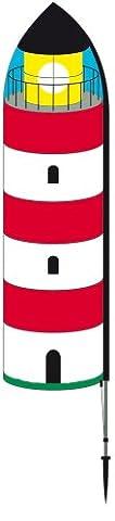Fahnen - Lighthouse Banner L - UV-beständig und wetterfest - Abmessung: 155x42cm, Gesamthöhe: 205cm - inkl. Fiberglas Standstab und Bodendübel