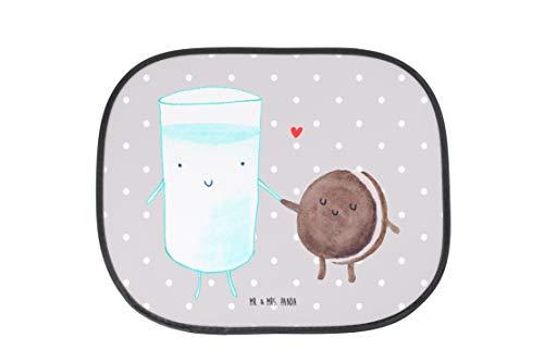 Mr. & Mrs. Panda Auto Sonnenschutz Milch & Keks - Milk, Cookie, Milch, Keks, Kekse, Kaffee, Einladung Frühstück, Motiv süß, romantisch, perfektes Paar, Sonnenschutz, Auto, Sonnenblende, Fenster, PKW, Kinder, Familie, Geschenk, Rücksitz