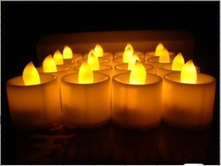Jessie & Letty Juego de set de 24velas LED candles Romántico–Stunning LED Flameless candlesled velas de for indoors and Outdoor