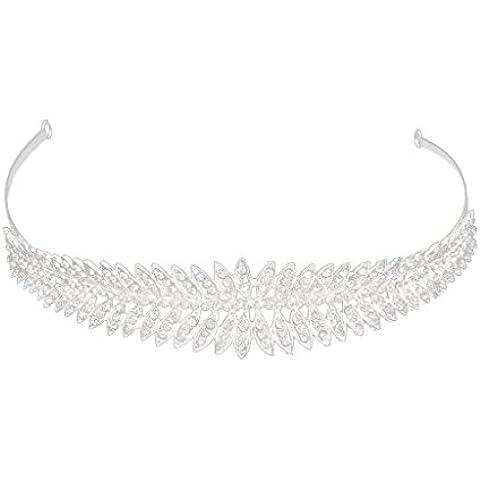 Boda De La Dama De Honor Nupcial De Cristal Brillante Diadema Corona Diamantes De Imitaciš®n Tiara