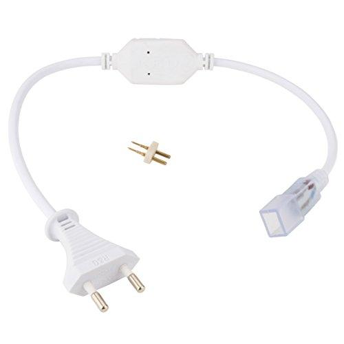 Enchufe Conector IP65 para Tira de LEDs 220VAC SMD5050