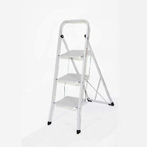 Escalera de acero de alta vida plegable de 2 3 4 peldaños, antideslizante,...
