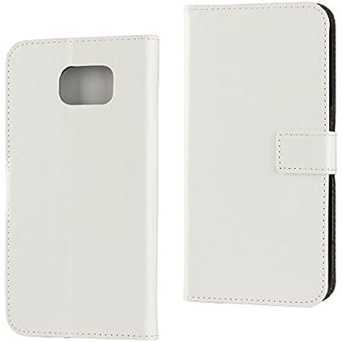 Custodia Samsung Galaxy S7 plus,[Portafoglio Protettiva] Multifunzionale Carta Slot Staccabile pelle case Cover Samsung Galaxy S7 plus(Bianco)