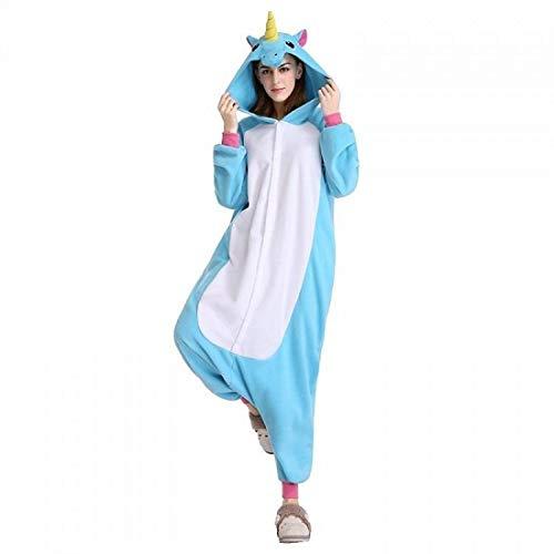Pferd Football Kostüm - DUKUNKUN Pyjamas Einhorn/Pferd Pyjamas Kostüm SamtBlau/Rosa/Fuchsia Cosplay Für Tier Nachtwäsche Cartoon Halloween Festival/Urlaub/Weihnachten,L