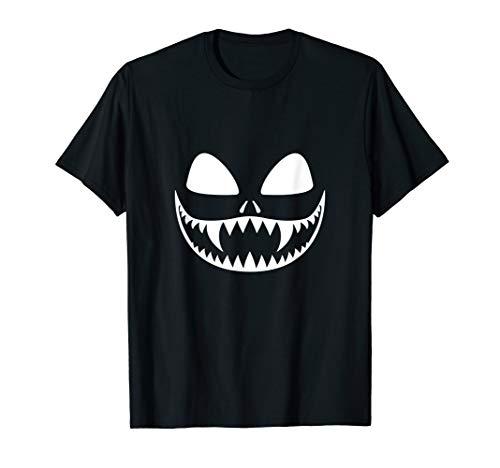 Kürbis Gesicht Halloween Gothic Grusel Scary Pumpkin T-Shirt (Gesichter Scary Kürbisse Halloween)