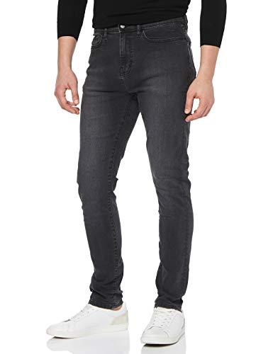 MERAKI Herren Skinny Jeans, Grau (Washed Black), W32/L32 -