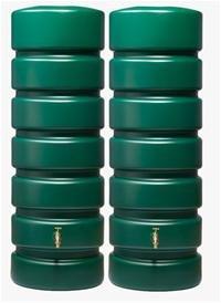 CLASSICO Gartentank SET 1300 L, grün 2 x CLASSICO 650 L, inkl. Verbinder