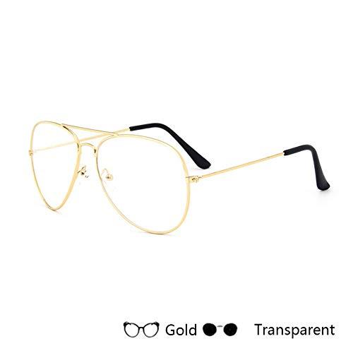 Sonnenbrillen. Marke Fashion Frauen Piloten Sonnenbrille Sonne Brille Männer Spiegelgläser Weiblich Männlich Metallrahmen Unisex Uv400 Outdoor Reisen Sommer Durchsichtig