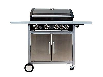 Traedgard® Gasgrill Grillwagen BBQ Indio 500   4 Brenner + 1 Seitenbrenner   Gusseiserne Grillroste   Thermometer   Zubehör