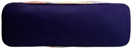 Lulu Australia Retro Floral Typical French Bag, Borsa con maniglia donna Multicolore (Yellow Floral)