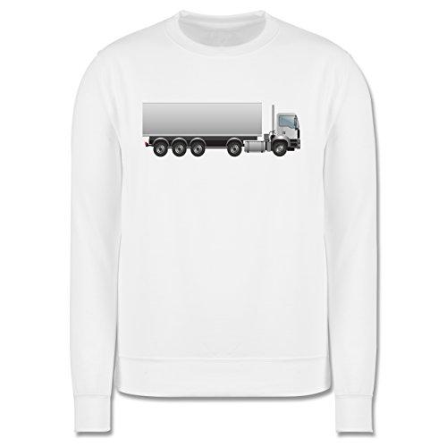 Andere Fahrzeuge - Sattelzug Sattel 40 Tonner - Herren Premium Pullover Weiß