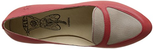 FLY London Maya902, Ballerines Femme Rouge (Scarlet/Concrete 002)