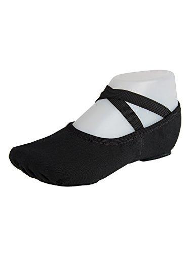 So Danca Ballettschläppchen, Leinen elastisch, Weite C Schwarz