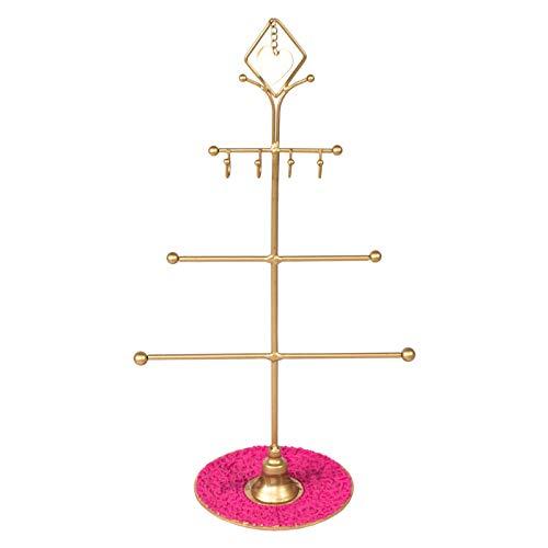 Oh So Pretty Schmuck Ständer Halterung/Schmuck Baum Gold und Rosa Vintage Stil Design